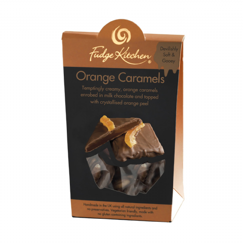 Orange Caramels In Milk Chocolate  By Fudge Kitchen 125g
